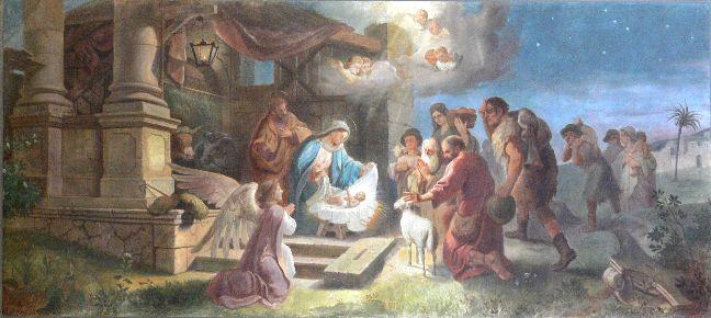 Maierhöfen_Pfarrkirche_Orgelempore_Geburt_Christi